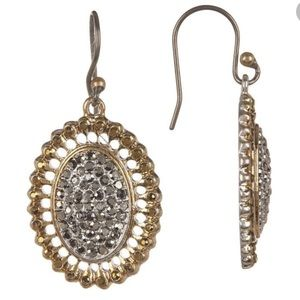 LUCKY BRAND Hanging gold & silver earrings
